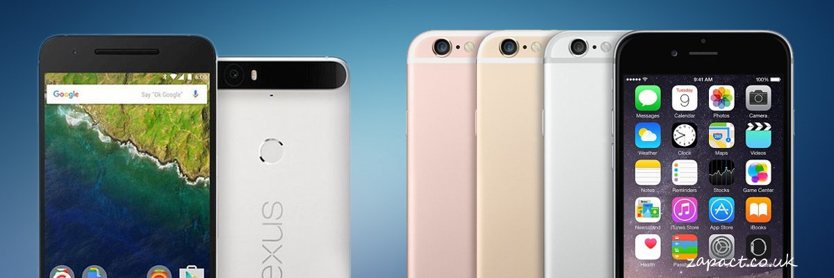 Apple iPhone 6S Vs Huwaei Nexus 6P