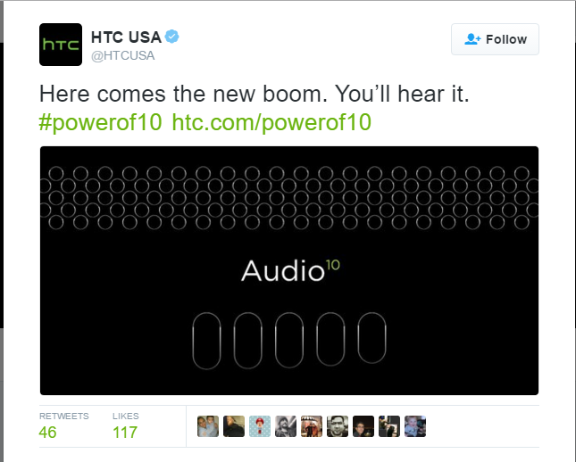 "HTC 10 comes with a new ""Boom Sound"" feature"