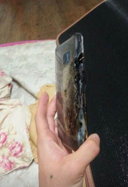 Images Show the Ugly Aftermath of the Note 7 That Explodes While Charging